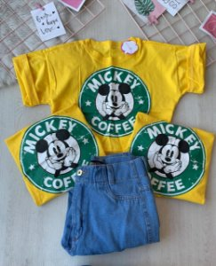 Cropped Mickey Amarelo