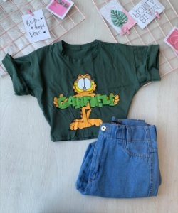 Cropped Garfield Verde