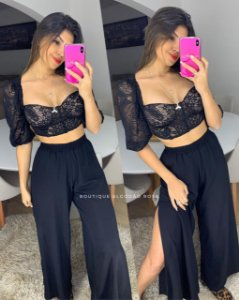 Cropped Renda Lívia