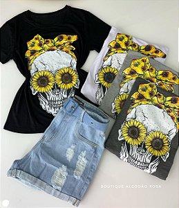T-shirt Caveira Laço