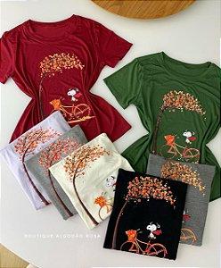 T-shirt Snoopy árvore