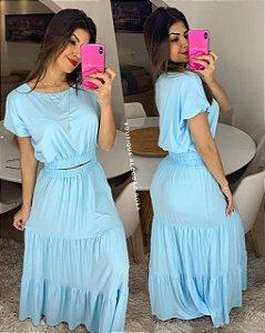 Conjunto Pamela Azul Pastel