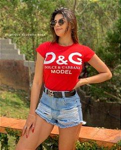 T-shirt Amanda vermelha