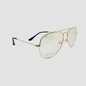 Óculos Aviador Gold