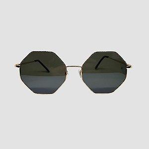 Óculos Octagonal Gold