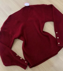 Blusa Botoes Vermelha