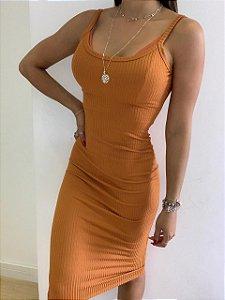 Vestido Longo Telha