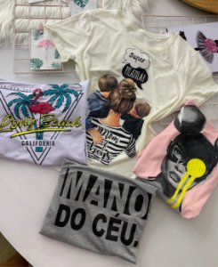 T-shirt Flamingo Branca