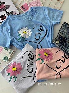 T-shirt Love Flor