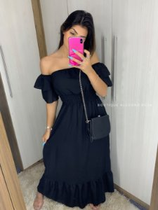 Vestido Ana Beatriz Preto