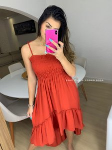 Vestido Dandara Telha