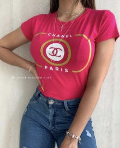 T-shirt Paris Rosa