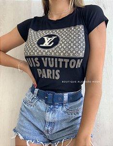 T-shirt Paris Preta
