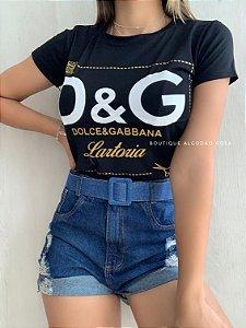 T-shirt Lartoria Preta
