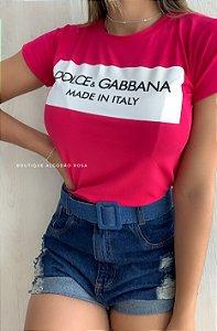 T-shirt Italy Rosa
