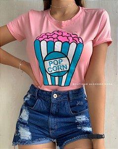 T-shirt Pipoca Rosa