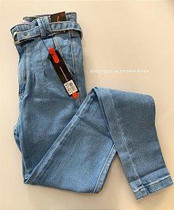 Calça Cintinho Jeans Claro