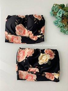 Cropped Faixa Flores