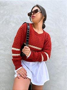 Blusa Vermelha Detalhes