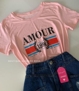 T-shirt Amour Rosa