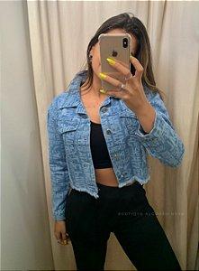 Jaqueta Jeans Sal e Pimenta Letreiro