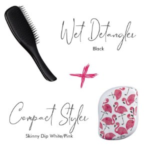Kit Wet Detangler Black + Flamingo White/Pink
