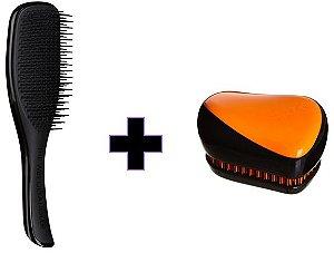 Kit Wet Detangler Black + Compact Styler Orange Flare