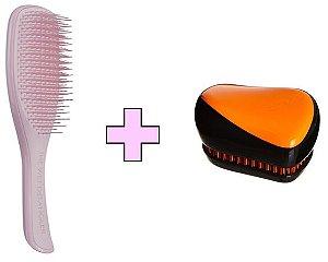 Kit Wet Detangler Pink + Compact Styler Orange Flare