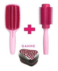 Kit - Blow Styling Full Paddle Pink + Blow Styling Round Tool Large Pink (Ganhe 1 Compact Styler Pink Kity)