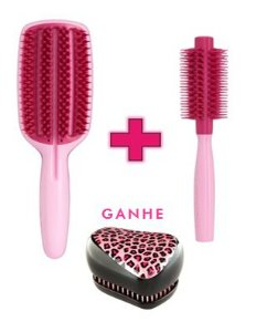 Kit - Blow Styling Full Paddle Pink + Blow Styling Round Tool Small Pink (Ganhe 1 Compact Styler Pink Kity)