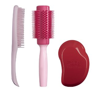Kit Cabelos Grossos- Wet Detangler Pink, Thick and Curly, Large Round Tool