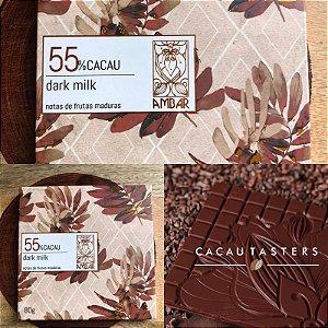 Barra de Chocolate Dark Milk 55% Cacau - Ambar Chocolates