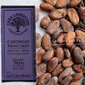 Barra de Chocolate Escuro 70% Cacau Catongo Trinitário  - Casa Lasevicius