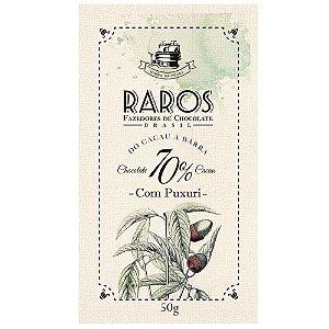Barra de Chocolate 70% Cacau com Puxuri Raros Fazedores de Chocolate