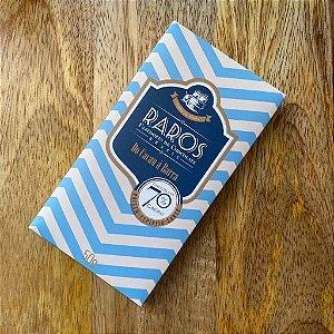 Barra de Chocolate 70% Cacau Origem Linhares Raros Fazedores de Chocolate