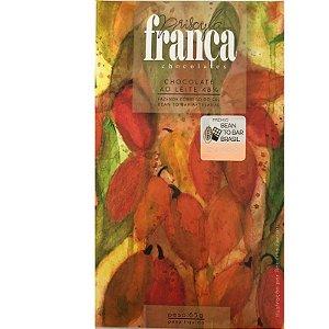 Barra de Chocolate ao Leite 48% Cacau - Priscila França Chocolates