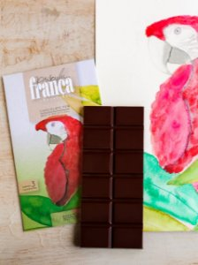 Barra de Chocolate 70% Cacau - Priscila França Chocolates