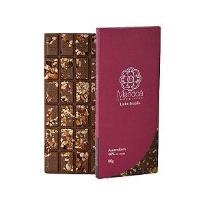 Barra de chocolate ao leite 40% Cacau com Amendoim - Mendoá