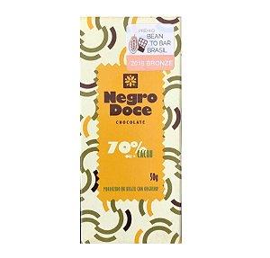 Barra de Chocolate 70% Cacau Negro Doce
