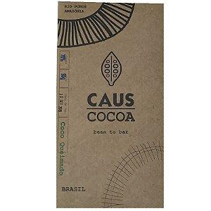 Barra de chocolate 78% cacau com coco queimado - Caus Cocoa