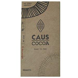 Barra de chocolate 78% cacau com morango- Caus Cocoa