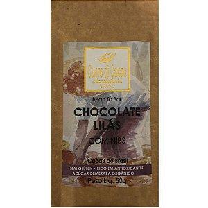 Barra de Chocolate Lilás com Nibs - Cuore di Cacao