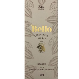 Barra de Chocolate Branco 34% Cacau - Bello Chocolates Fino
