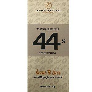Barra de Chocolate ao leite 44% Cacau - Andrei Martinez