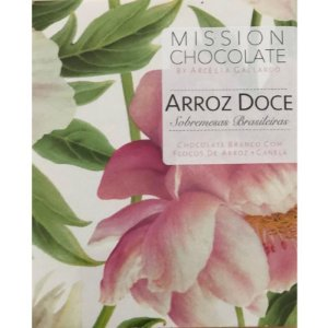 Barra de Chocolate Branco Arroz Doce – MISSION CHOCOLATES by Arcelia Gallardo