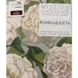 Barra de Chocolate Branco Romeu e Julieta – MISSION CHOCOLATES by Arcelia Gallardo