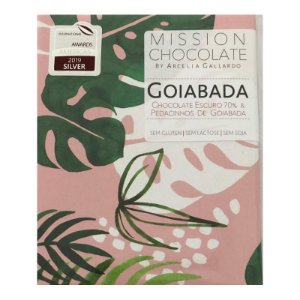 Barra de Dark Chocolate com pedacinhos de Goiabada – MISSION CHOCOLATES by Arcelia Gallardo