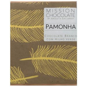 Barra de CHOCOLATE BRANCO COM MILHO VERDE - PAMONHA – MISSION CHOCOLATES by Arcelia Gallardo