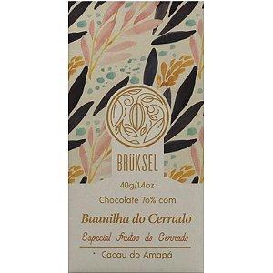 Barra de Chocolate 70% Cacau com Baunilha do Cerrado - Brüksel