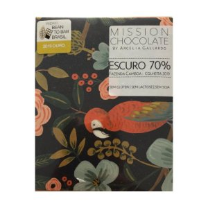 Barra de CHOCOLATE Escuro 70% – MISSION CHOCOLATES by Arcelia Gallardo